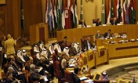 Arab countries foreign ministers attend a summit in the Arab League headquarters in Cairo, Egypt, Sunday, Sept. 1, 2013. The 22-state Arab League held an emergency session on Syria, where the Saudi Arabian foreign minister, Saud al-Faisal, prodded member states to back measures against the Syrian regime. (AP Photo/Khalil Hamra)